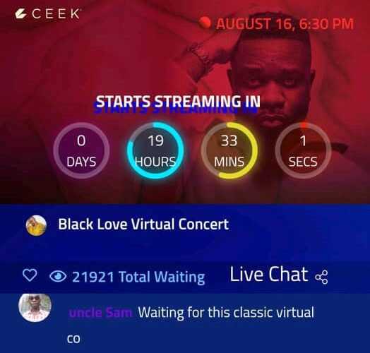 Record? 20k+ Sarkodie Fans Await Online For The Black Love Virtual Concert Today